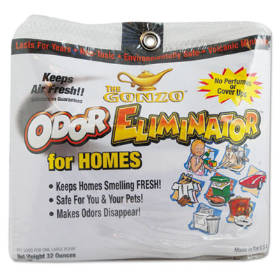 Gonzo® Odor Eliminator, Volcanic Rocks, 32 oz Bag, 6/Carton - 1013D