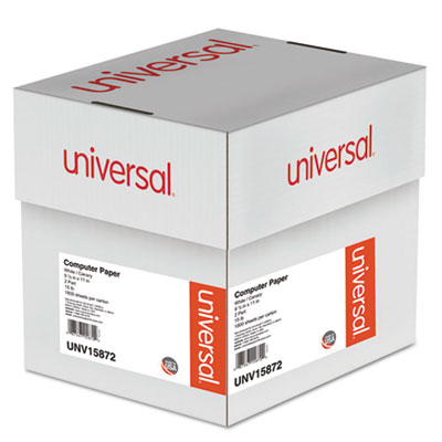 Universal® Multicolor Computer Paper, 2-Part Carbonless, 15lb, 9-1/2 x 11, 1800 Sheets - UNV15872