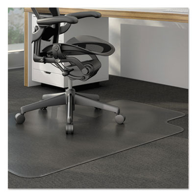 Moderate Use Studded Chair Mat For Low Pile Carpet, 36 X 48, Lipped,