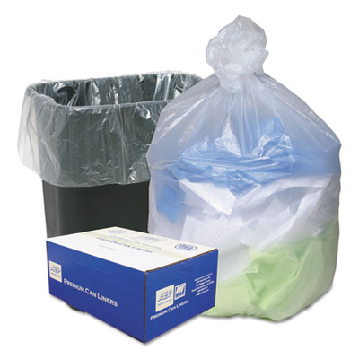 Ultra Plus® High Density Can Liners, 16gal, .315mil, 24 x 33, Natural, 200/Carton - WHD2431