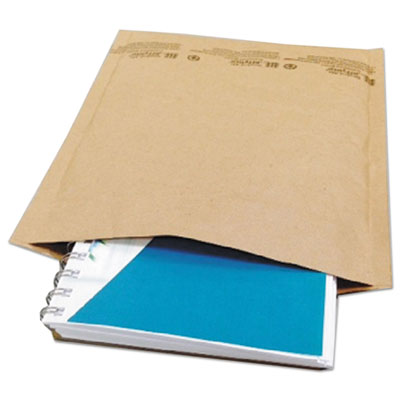 Universal® Jiffy Natural Self Seal Cushioned Mailer, #2, 8 1/2 x 12, Kraft, 100/Carton - UNV62163