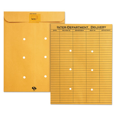 Quality Park(TM) Brown Kraft Resealable Redi-Tac(TM) Interoffice Envelope