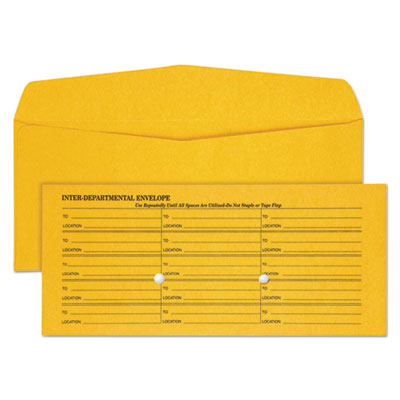 Quality Park™ Light Brown Fold Flap Kraft Trade Size Interoffice Envelope