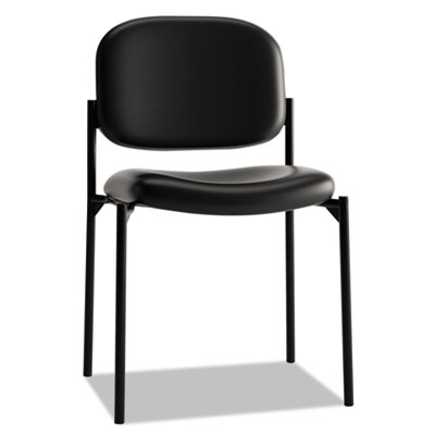 VL606 Stacking Guest Chair without Arms, Black Seat/Black Back, Black Base BSXVL606SB11