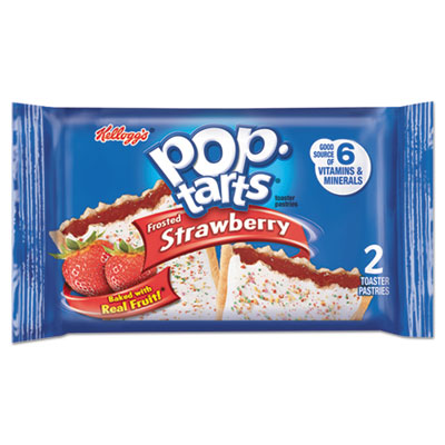 Pop Tarts, Frosted Strawberry, 3.67 oz, 2/Pack, 6 Packs/Box