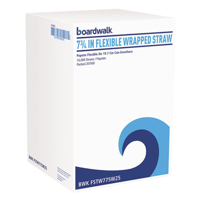 "FLEX STRAW WRAP 7.75"" WHITE 20/500"