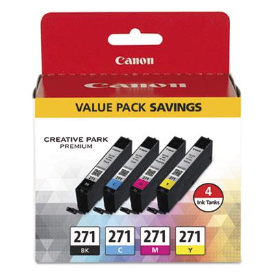 0390C005 (CLI-271) Ink, Black/Cyan/Magenta/Yellow CNM0390C005