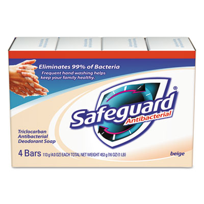 Safeguard® Antibacterial Bath Soap, Beige, 4oz Bar, 48/Carton
