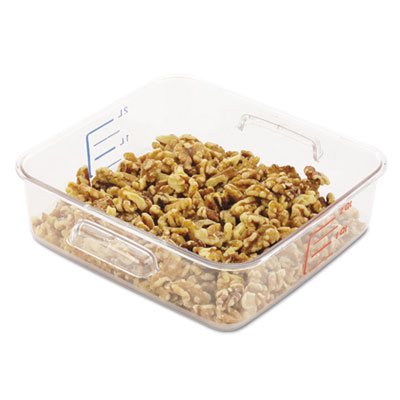 FOOD CONTAINER 6302 2 QT SQ CLEAR-CARB 8.75X8 5/16X2 11/16