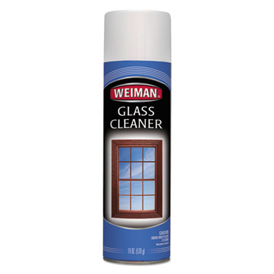 WEIMAN® Foaming Glass Cleaner, 19 oz Aerosol Can, 6/Carton - 10CT