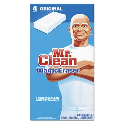 Magic Eraser Foam Pad, 2 2/5 inch x 4 3/5 inch, White, 4/Box