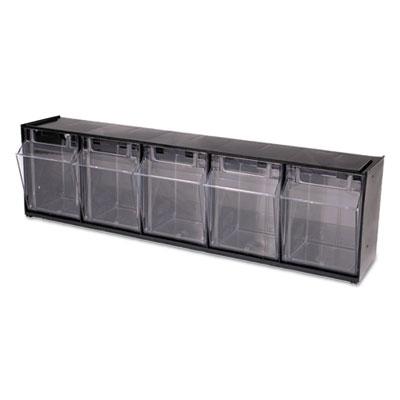 Tilt Bin Plastic Storage System W 5 Bins 23 8 X