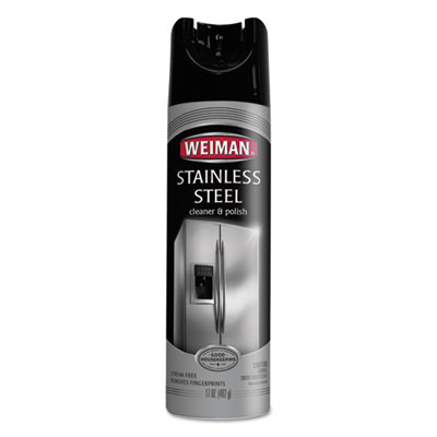 WEIMAN® Stainless Steel Cleaner and Polish, 17 oz Aerosol - 49