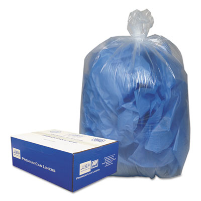 Classic Clear Clear Low-Density Can Liners, 55-60gal, .9 Mil, 38 x 58, Clear, 100/Carton - WEBBC60