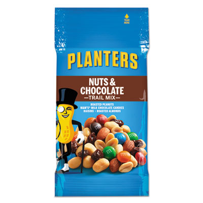 Trail Mix, Nut and Chocolate, 2 oz Bag, 72/Carton