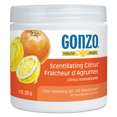 Natural Magic® Odor Absorbing Gel, Scentillating Citrus, 14 oz Jar, 12/Carton - 4041