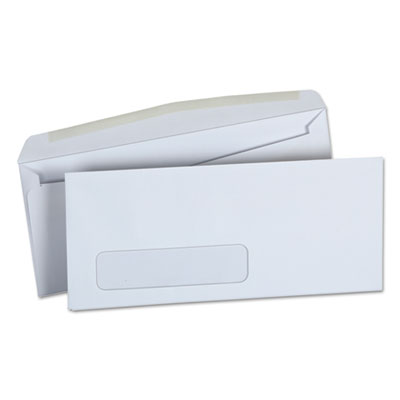 Universal® Window Business Envelope, Side, #10, 4 1/8 x 9 1/2, White, 500/Box - UNV36321