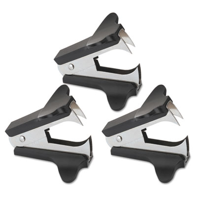 Universal® Jaw Style Staple Remover, Black, 3 per Pack - UNV00700VP