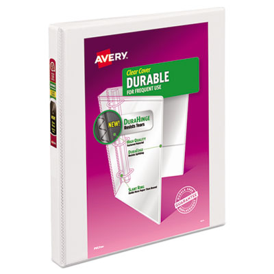Avery® Durable View Binder with DuraHinge® and Slant Rings