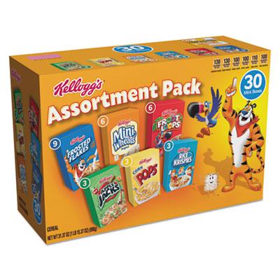 Breakfast Cereal Mini Boxes, Assorted, 2.39 oz Box, 30/Carton