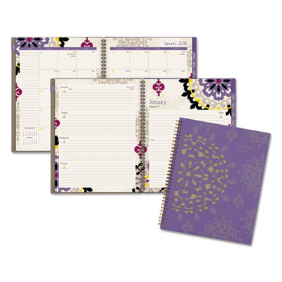 Vienna Weekly/Monthly Appointment Book, 8 1/2 x 11, Purple, 2018