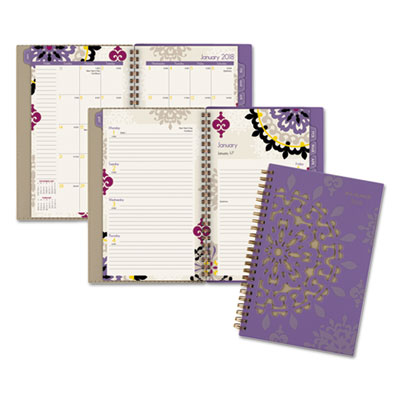 Vienna Weekly/Monthly Appointment Book, 4 7/8 x 8, Purple, 2018