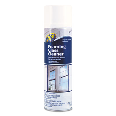 Zep Commercial® Foaming Glass Cleaner, 19 oz Aerosol Can, Pleasant Scent - 1046502