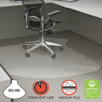 Supermat Frequent Use Chair Mat Medium Pile Carpet 60 X 66 L Shape Clear Sani Chem Cleaning Supplies