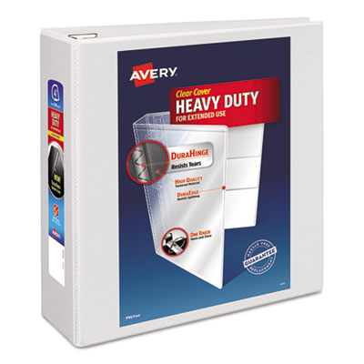 Avery® Heavy-Duty View Binder with DuraHinge® and One Touch EZD® Rings