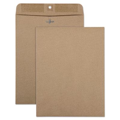 Quality Park(TM) 100% Recycled Brown Kraft Clasp Envelope
