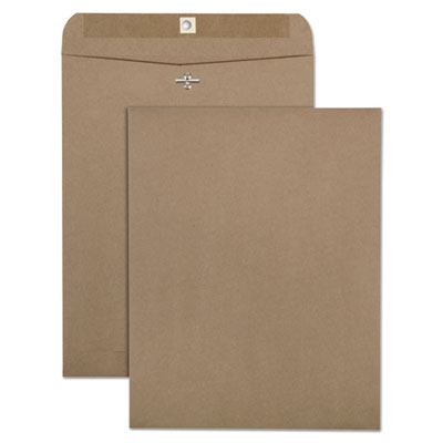 Quality Park™ 100% Recycled Brown Kraft Clasp Envelope