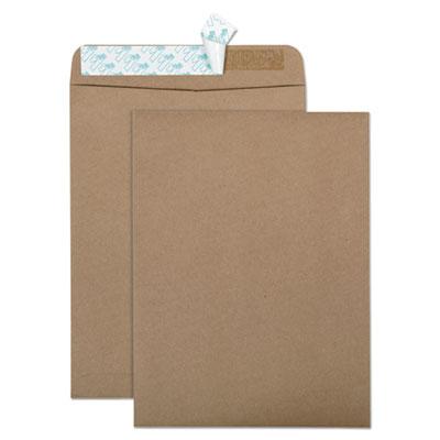 Quality Park(TM) 100% Recycled Brown Kraft Redi-Strip(TM) Envelope