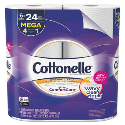 Ultra ComfortCare Toilet Paper, Septic Safe, 2-Ply, 284 Sheets/Roll, 6 Rolls/Pack, 36 Rolls/Carton
