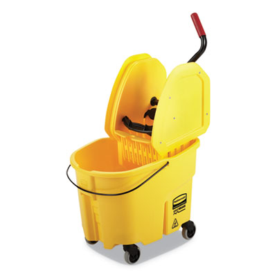 MOP BUCKET/WRING FG757788 YELLOW COMBO PACK PLASTIC W/DOWNWA
