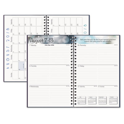 recycled academic weekly monthly appointment book planner 5x8