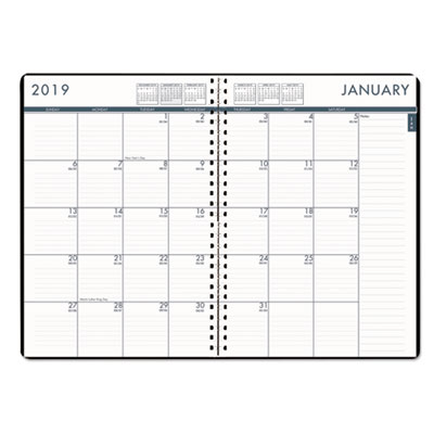 recycled 24 7 daily appointment book monthly planner 10 x 7 black
