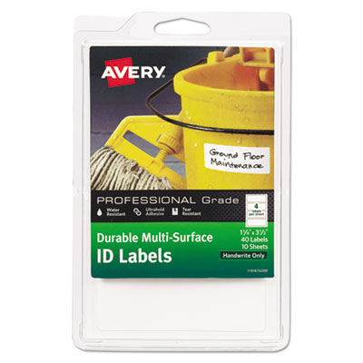 Avery® Durable Permanent Multi-Surface ID Labels