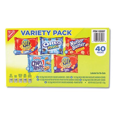 Mini Snack Packs, 1 oz, Variety Pack, 40/Carton