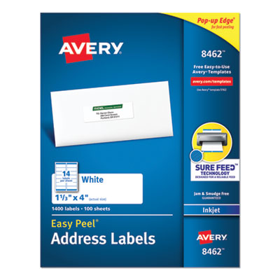 Avery® Easy Peel® White Address Labels with Sure Feed(TM) Technology