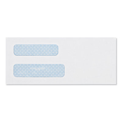 Quality Park™ Double Window Security-Tinted Check Envelope