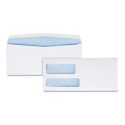 Quality Park(TM) Double Window Security-Tinted Check Envelope