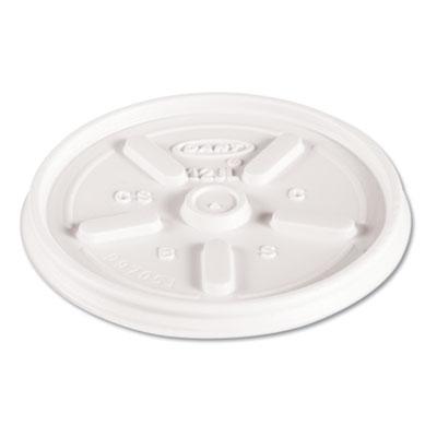 LID 12JL PLASTIC VENTED WHITE 100/PKG 1000/CS