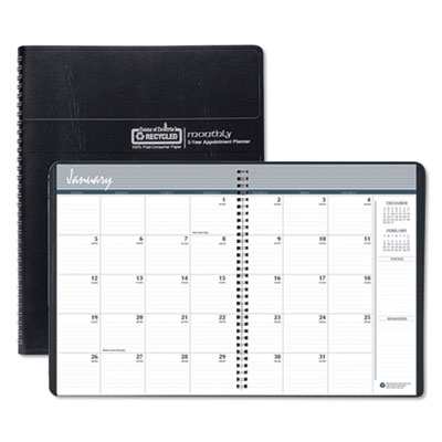 House of Doolittle™ 100% Recycled Two Year Monthly Planner with Expense Logs