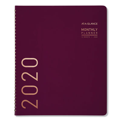 Contemporary Monthly Planner, 11 1/8 x 9 1/2, Purple, 2020