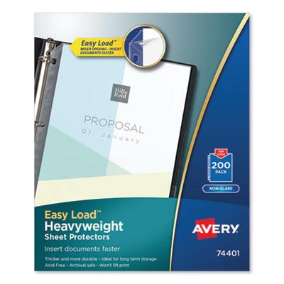 Avery® Heavyweight and Super Heavyweight Easy Load Non-Glare Sheet Protector