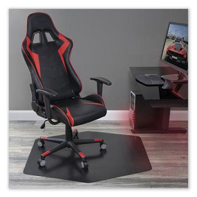 Game Zone Chair Mat, For Hard Floor/Medium Pile Carpet, 42 x 46, Black
