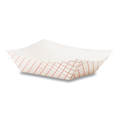(10-1)FOOD TRAY RP2008 PAPER 2# RED CHECK 250/PKG 1000/CS