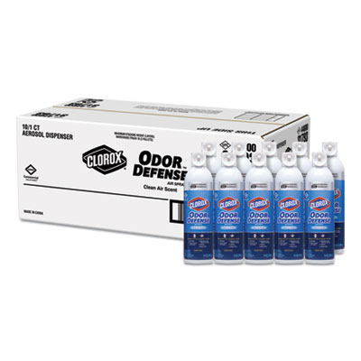 Commercial Solutions Odor Defense, Clean Air, 14 oz Aerosol, 12/Carton