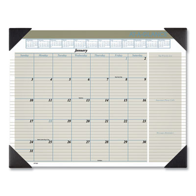 AT-A-GLANCE® Executive® Monthly Desk Pad Calendar