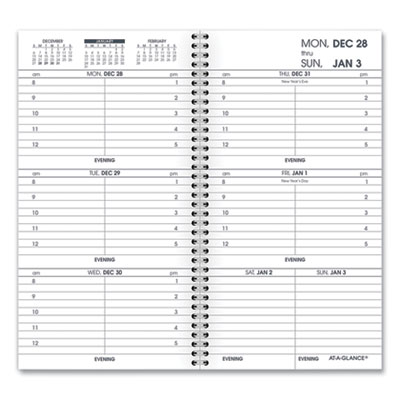 AT-A-GLANCE® Weekly Appointment Book Refill Hourly Ruled